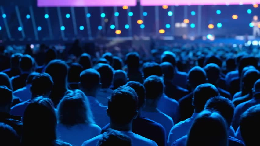 Audience listens to the lecturer at the conference hall | Shutterstock HD Video #1012048439