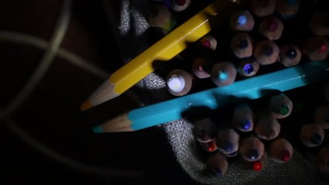 crayons flashes of light