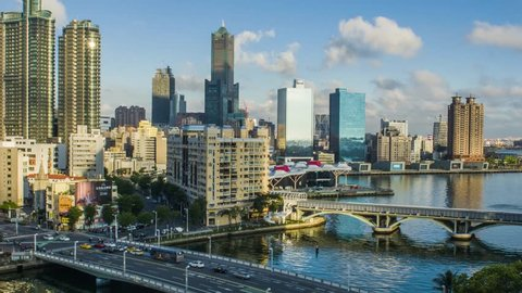 KAOHSIUNG, TAIWAN, MAY 10 2018: Southern located in Taiwan, is a port city, has developed rapidly in recent years, many foreign visitors have come to play in Kaohsiung.