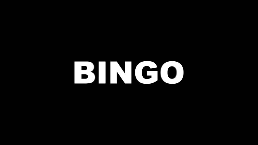 BINGO Glitch Text Animation, Rendering, Background, Loop, 4k