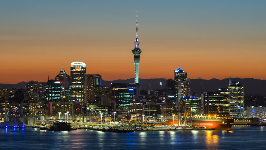 Famous View on Auckland from Mount Victoria