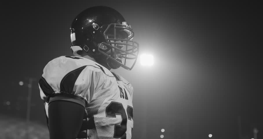 Portrait Of Focused American Football Player
