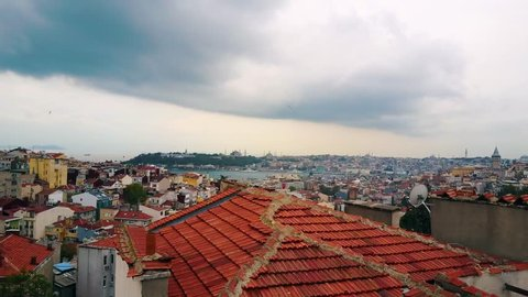 aerial photography of the city Istanbul, cityscape