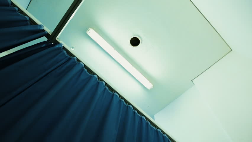 Curtain of a hospital room - pan shot Royalty-Free Stock Footage #1012228292