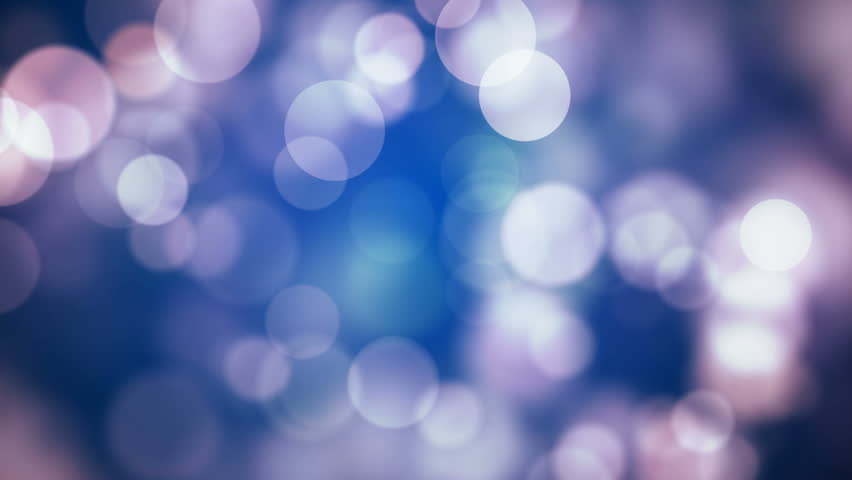 Moving blue, reddish glitter lights, defocused light reflections loopable blue bokeh background, Winter concept