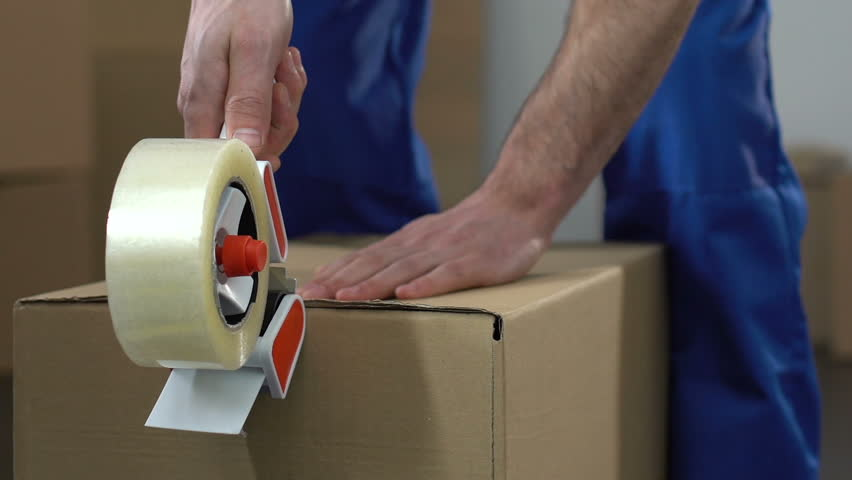 Moving service worker packing and taking out box, relocation services, migration #1012237958