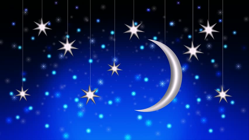Beautiful night sky moon and stars, best loop video background to put a baby to sleep, calming relaxing | Shutterstock HD Video #1012293827