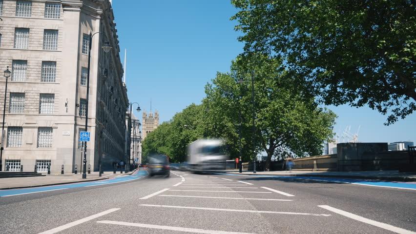 Time lapse. City transportation. London.  | Shutterstock HD Video #1012328084
