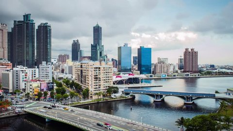 KAOHSIUNG, TAIWAN, MAY 20 2018: Southern located in Taiwan, is a port city, has developed rapidly in recent years, many foreign visitors have come to play in Kaohsiung.