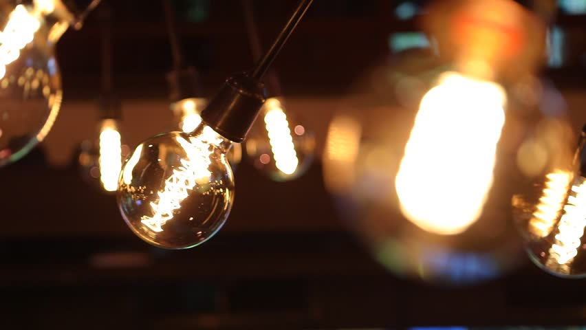 Beautiful retro lamps on ceiling | Shutterstock HD Video #1012487018