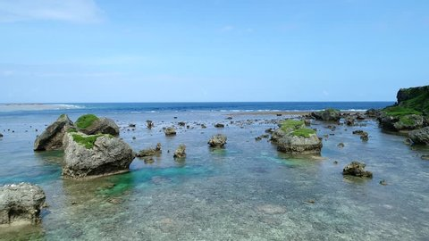the beautiful seascape at Okinawa in Japan