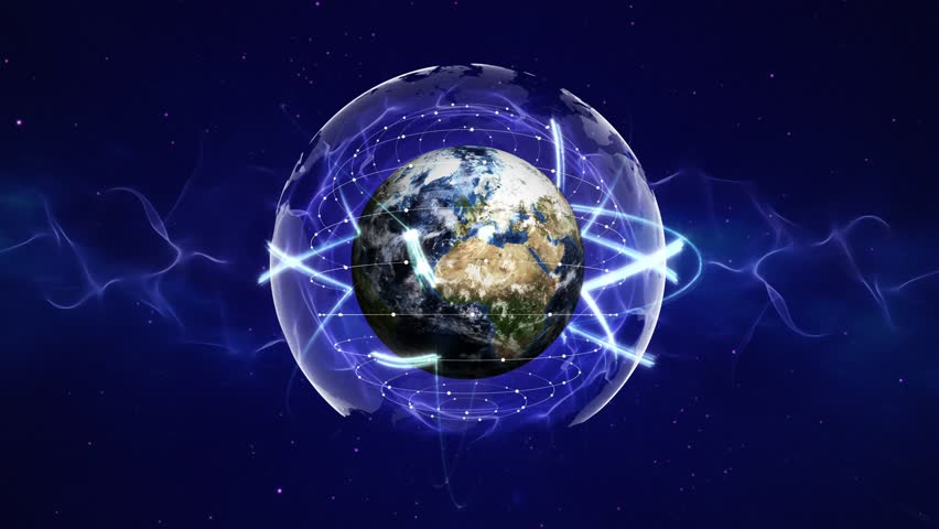 Earth, Connection Network Concept Animation, Rendering, with Alpha Channel, Background, Loop, 4k    Shutterstock HD Video #1012506284