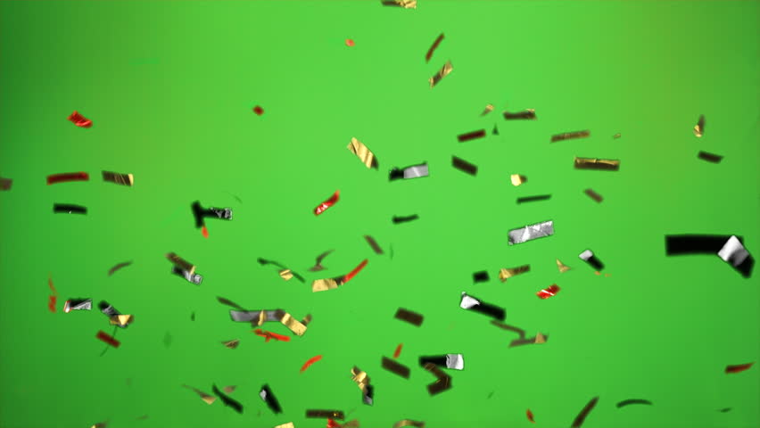 German Confetti bomb in the colors black, red gold with green screen Real Confetti  for party and celebrations | Shutterstock HD Video #1012511798