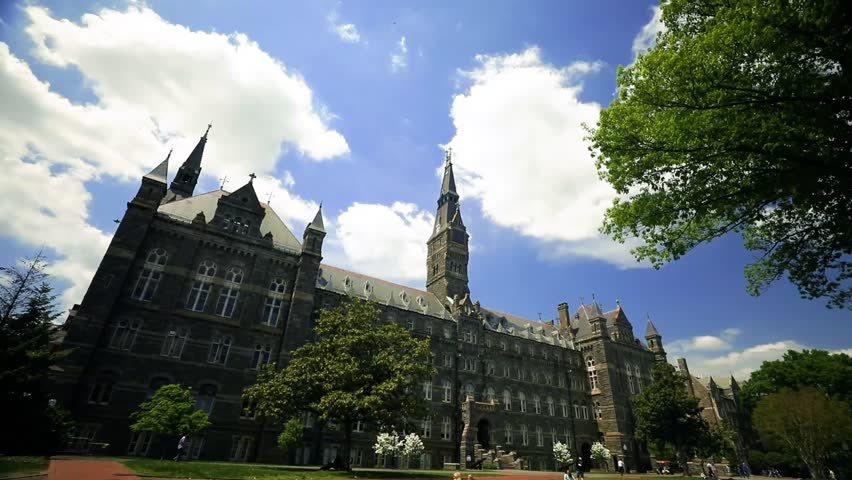 Washington, DC - May 10, 2018: Georgetown University on a sunny day.