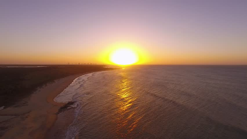 Sunset on the beach with beautiful sky   | Shutterstock HD Video #1012576439