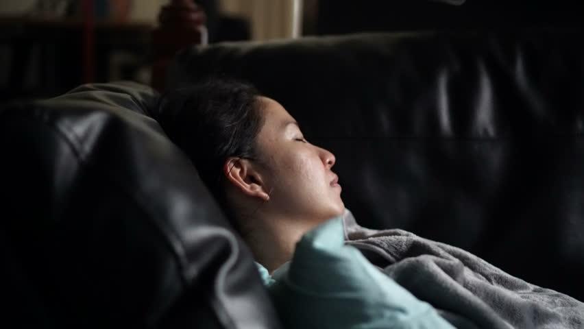 Asian Woman Sick Alone Sleeping Stock Footage Video (100% Royalty-free)  1012579985 | Shutterstock