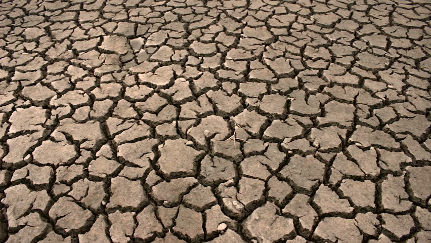 Dry Cracked Ground Drought Stock Footage Video (100% Royalty ...