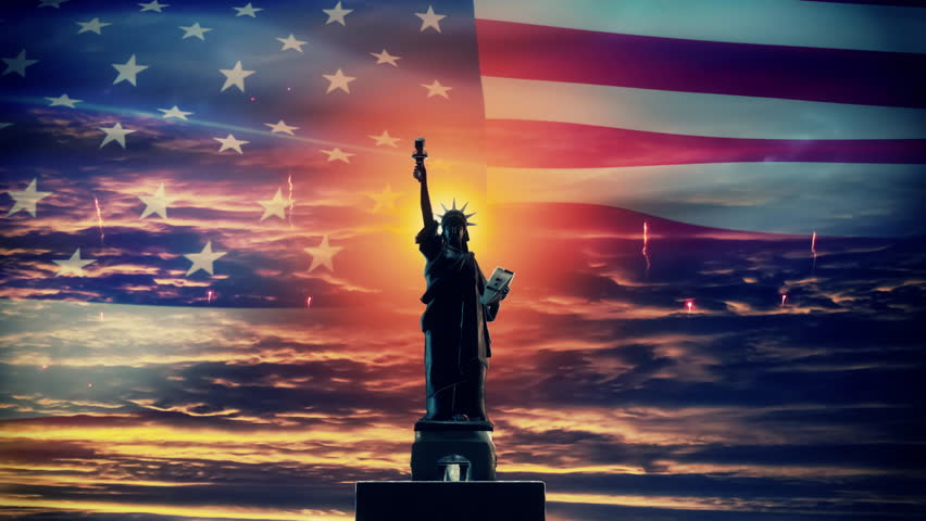 Independence Day Background Royalty-Free Stock Footage #1012648412
