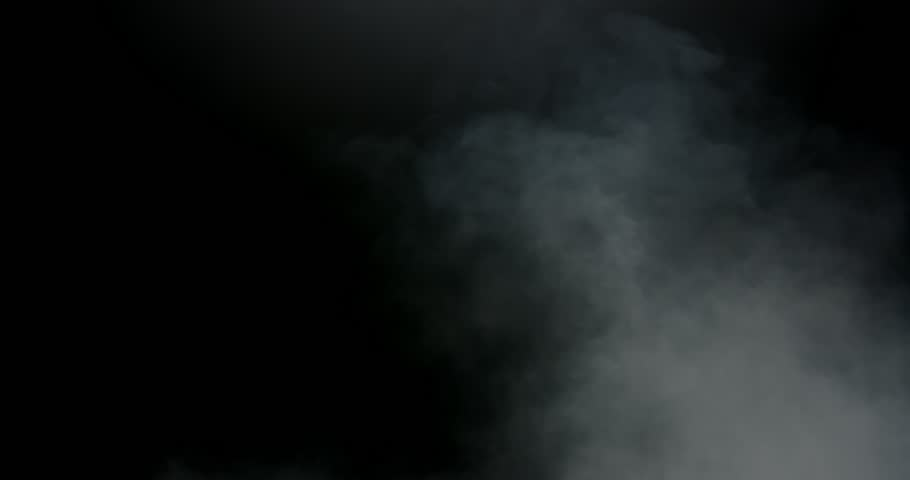 Turbulent atmospheric smoke on the right side of frame compositing element #1012664357