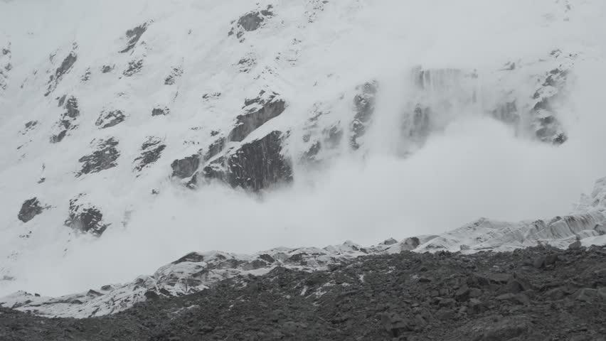 Santa Cruz Trekking Avalanche in the Mountains