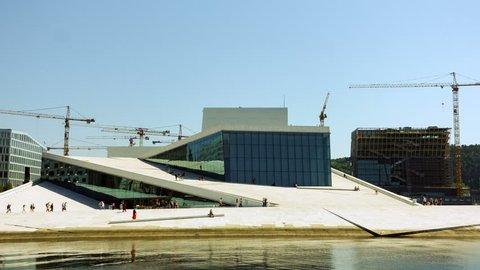 Norway, Oslo - MAY 29, 2018: The Norwegian National Opera and Ballet, and the national opera theatre