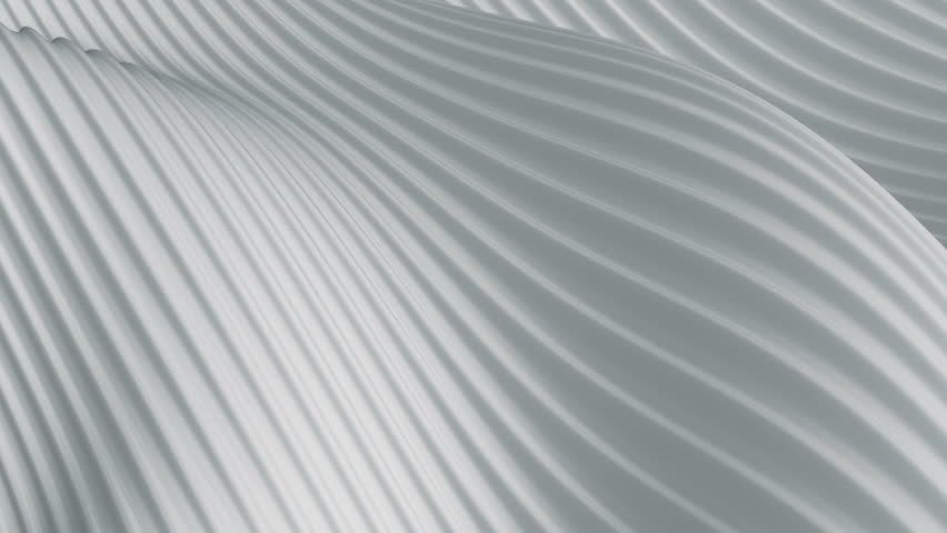 Abstract background with animation of light or dark waving surface with stripes. Animation of seamless loop.   Shutterstock HD Video #1012717970