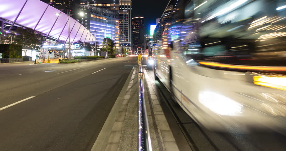 Traffic in the Central Tokyo at Night (tilt up) | Shutterstock HD Video #1012731188