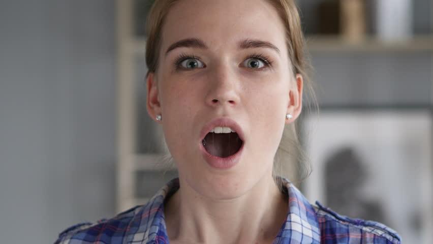 Wondering Woman amazed by Surprise Gift | Shutterstock HD Video #1012754669
