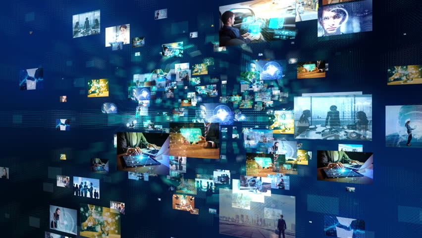 Network of business concept. Group of pictures in cyberspace. IoT(Internet of Things). AI(Artificial Intelligence). | Shutterstock HD Video #1012762778
