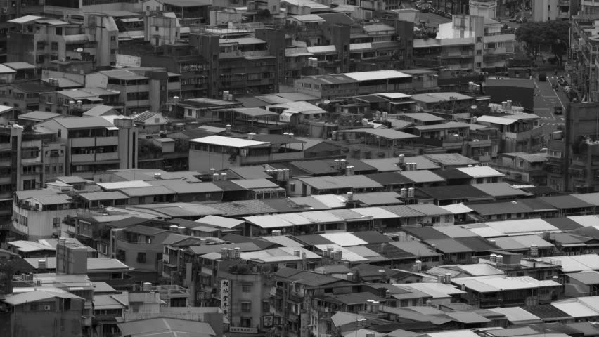 Zoom out of Taipei Apartment Buildings from Above   Shutterstock HD Video #1012783325
