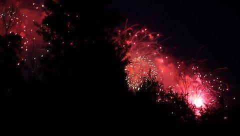 Colorful fireworks festival.