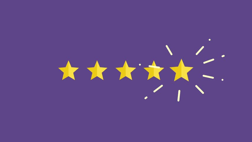 Five Rating Star Product Quality. Customer review, Usability Evaluation,  Feedback. | Shutterstock HD Video #1012855055