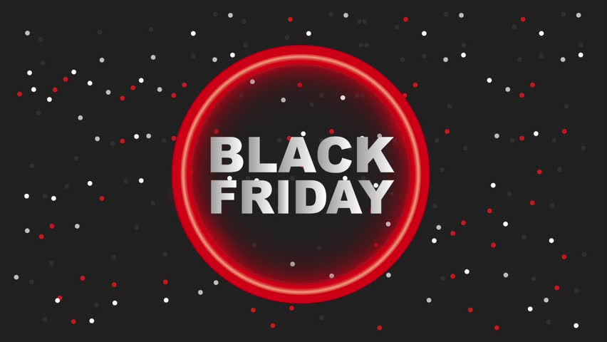 Neon light circle dotted background black friday black friday animation hd