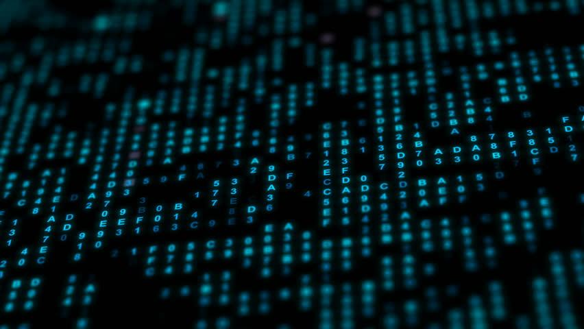 Hexadecimal data background | Shutterstock HD Video #1012874420
