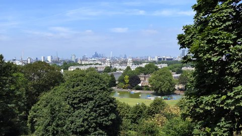 A view of the central districts of the city. London.