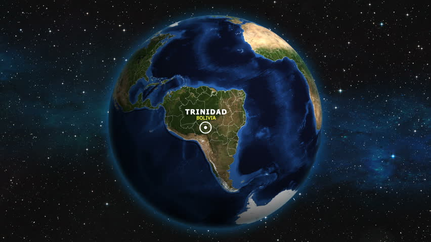 BOLIVIA TRINIDAD ZOOM IN FROM SPACE | Shutterstock HD Video #1012893338