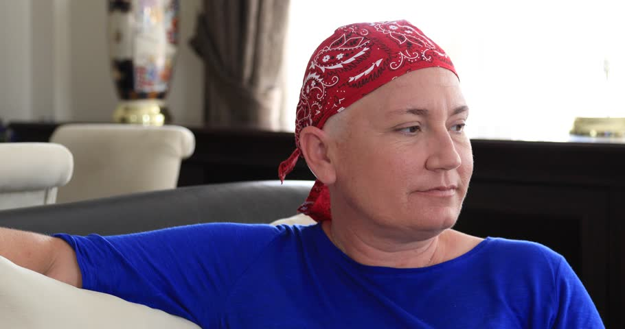 Portrait of a smiling woman with cancer