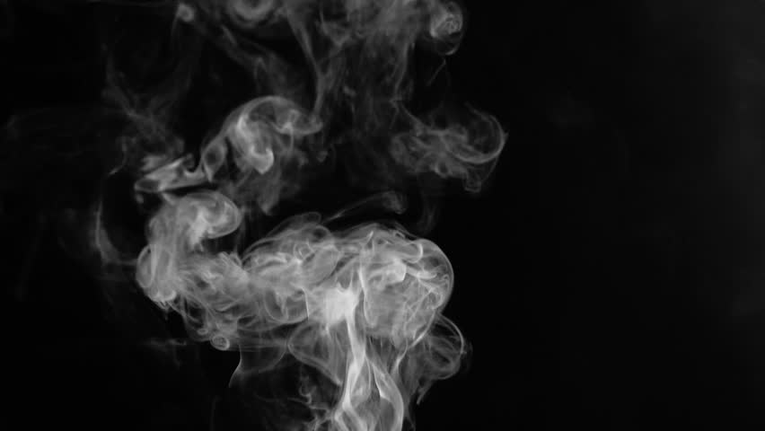Smoke background. Abstract smoke cloud on black background.  Smoke effect. Add realism to your footage. Use blending mode (screen) #1012899632