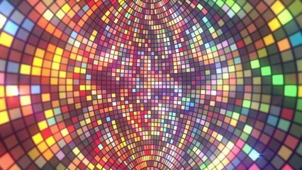 DiscoBall Retro seamless VJ loop animation for music broadcast TV, night clubs, music videos, LED screens and projectors, glamour and fashion events, jazz, pops, funky and disco party.