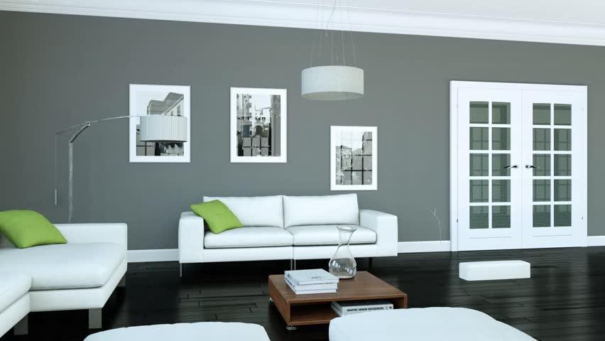 Building Up Modern Living Room Interior Design 3d Animation