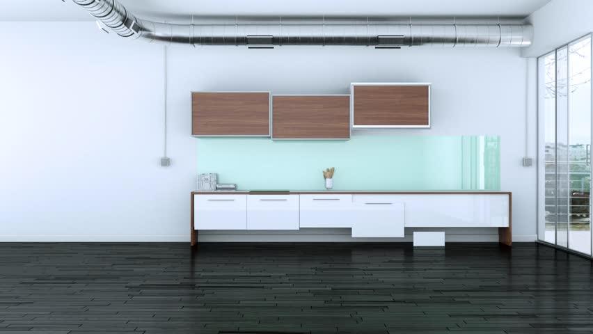 Building Up Modern Kitchen Interior Design 3d Animation | Shutterstock HD Video #1012952303