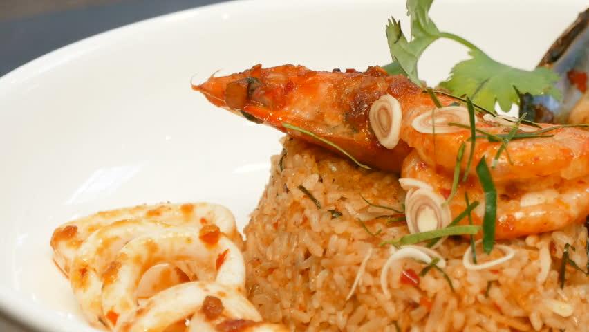 Stir Fried Sea Food | Shutterstock HD Video #1012961012