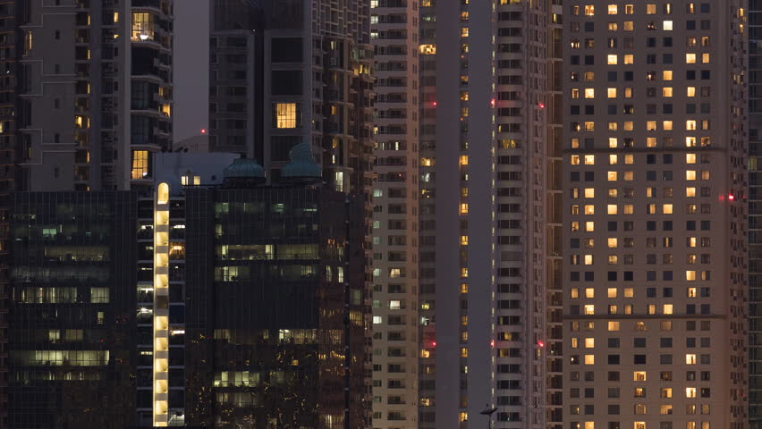 When the sunlight fades out, it's time for the capital city light will brighten up. Time lapse 4K | Shutterstock HD Video #1012985540