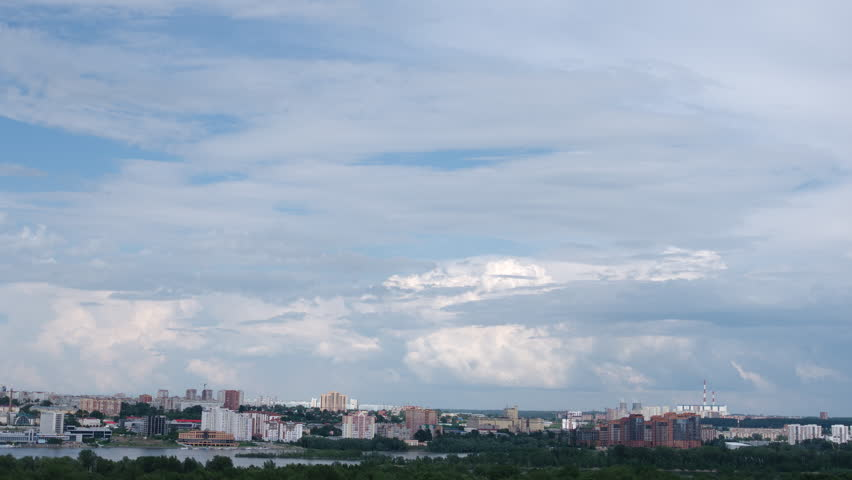 TIME-LAPSE: Coming hard thunderstorm over Novosibirsk city, Russia | Shutterstock HD Video #1013018795