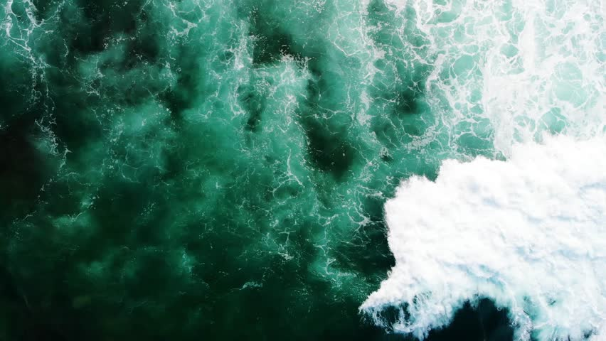Waves texture in the ocean texture background top view aerial top view | Shutterstock HD Video #1013025767