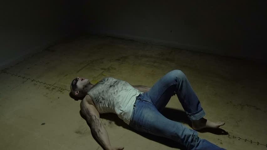 Lying bald man in room | Shutterstock HD Video #1013041208