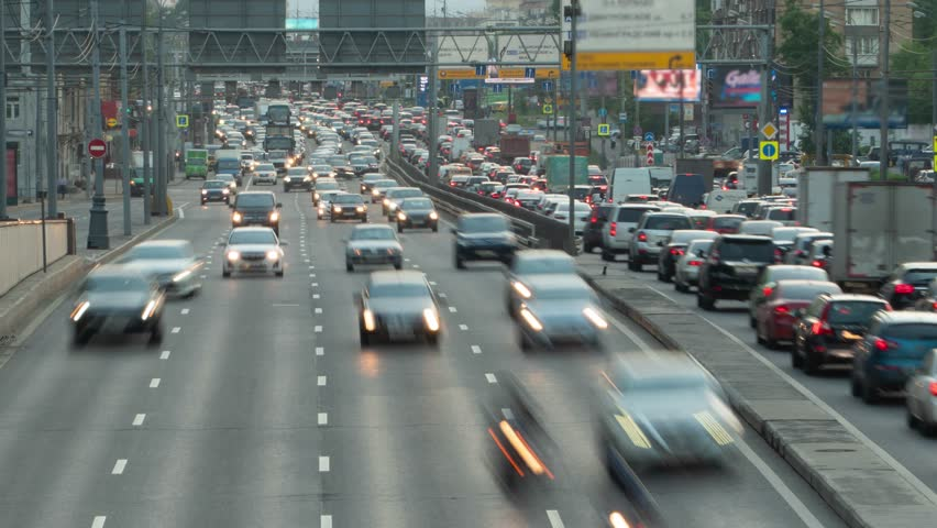 Huge Car Traffic on a City Highway Timelapse Motion | Shutterstock HD Video #1013063081
