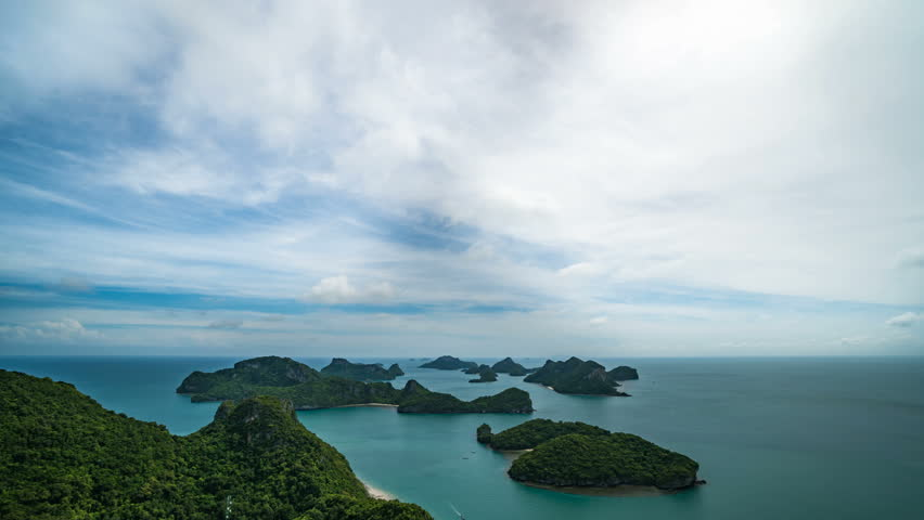 Timelapse of Tropical Islands at Angthong National Marine Park in Thailand | Shutterstock HD Video #1013072339