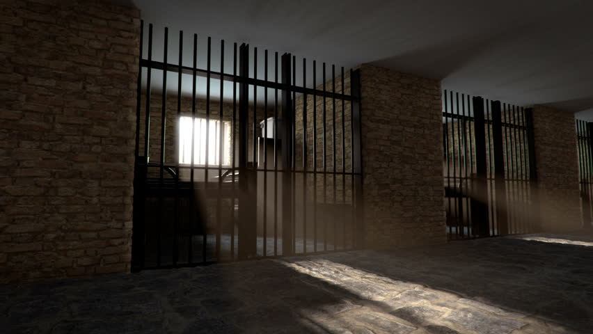 Prison corridor looping animation
