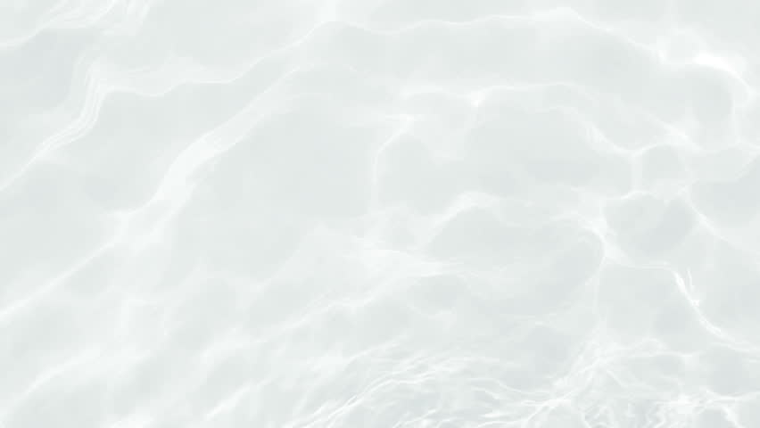 Clean Water Slow Motion looping with Refraction and Reflections ripples and wave, top view texture sea side white sand, sun shine  water loop background, 3d simulation animation